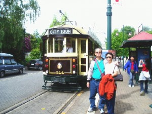 A city tramcar