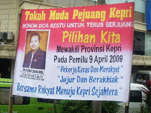 An Election Poster, Batam Island