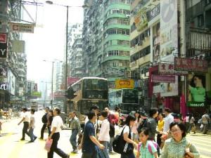 Busy Argyle Road in Mongkok