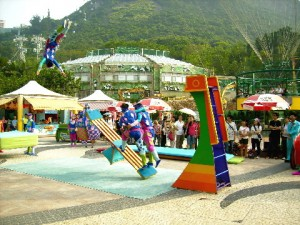 An Acrobat Act in Lowland, Ocean Park