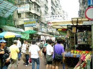 A busy street in Sham Shui Po, Kowloon