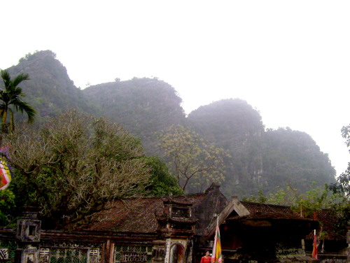 Hoa Lu hills that protected King Dinh's kingdom