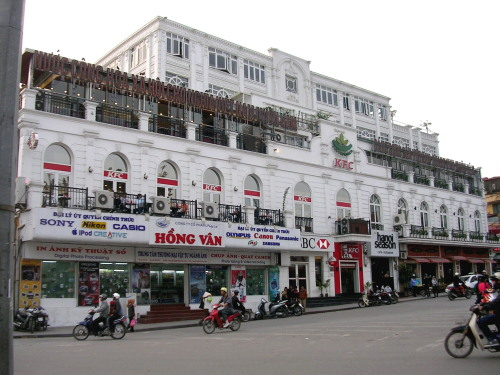 A French styled building near Hoan Kiem Lake