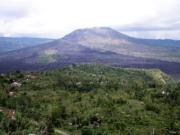 Mount Batur (1,717 m), an active volcano