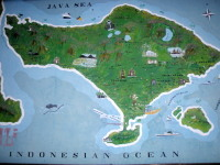 Map of Bali Island