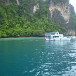 Crystal-clear water in Ton Sai Bay, Phi Phi Don Island