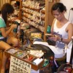 A wooden clog shop