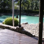 An Atayal Hotel's pool of hot spring water
