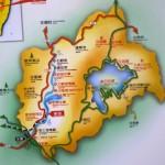 Location of Sun Moon Lake