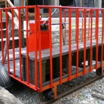 A man-powered railway wagon