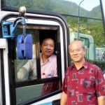 Writer and the A Group bus driver, Mr. Lim