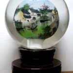 A glass-ball painting by an artist, Gong Liang