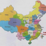 China Map showing Fujian Province