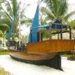 A model of an ancient Bugis boat
