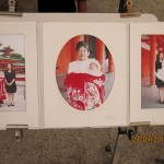 Photos of parents with their children at Heian Temple