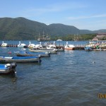 Boating area in Lake Ashi