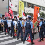 Anti-nuclear plant protestors in Shinjuku Plant