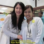 Left: Tour Leader(Lina Chua) Right: Myanmar Tour Guide(Chan)