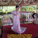 A traditional dance at The Beach Bagan Restaurant & Bar