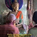 In a Buddhist shine on Mount Popa