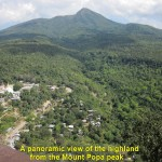 Highlands as seen from the Mount Popa peak