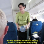 A pretty Yangon Airways stewardess