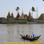 Yele Pagoda on an islet in the middle of Yangon River