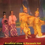 A cultural show in Karaweik Hall