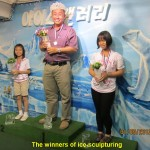 Winners of Ice-Sculpturing Competition