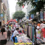 Street stalls on Myeongdong Road