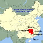 Location of Hunan Province in China