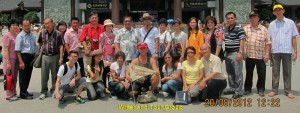 Writer and Tour Group