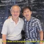 Writer(L) and Zhangjiajie Tour Guide, Ah Chen(R)