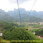 A long cable-car ride to Tianmen Mountain