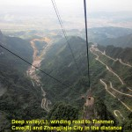 Winding Road on the right as seen from a cable-car