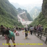Scenery in front of Tianmen Cave
